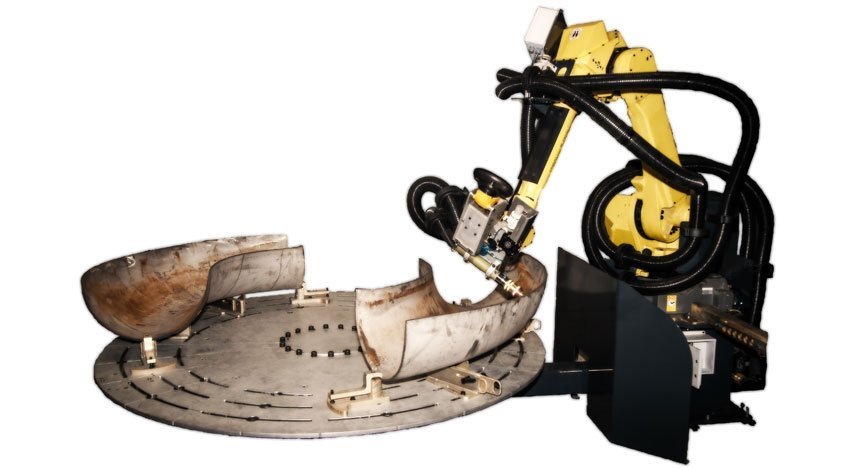 Robotic cutting & grinding cell