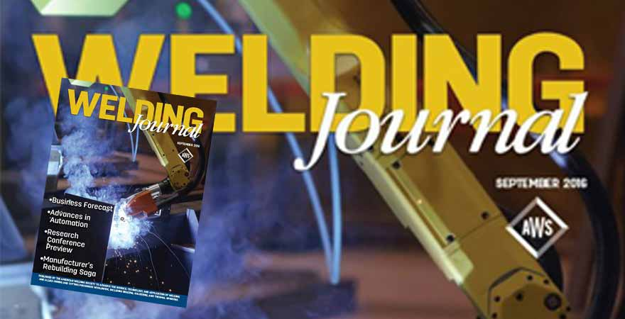 AGT Robotics makes the front page of the Welding journal