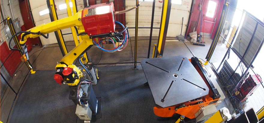 Robotic welding for hexapods